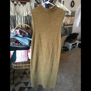 Forever 21 sleeveless mock neck maxi dress